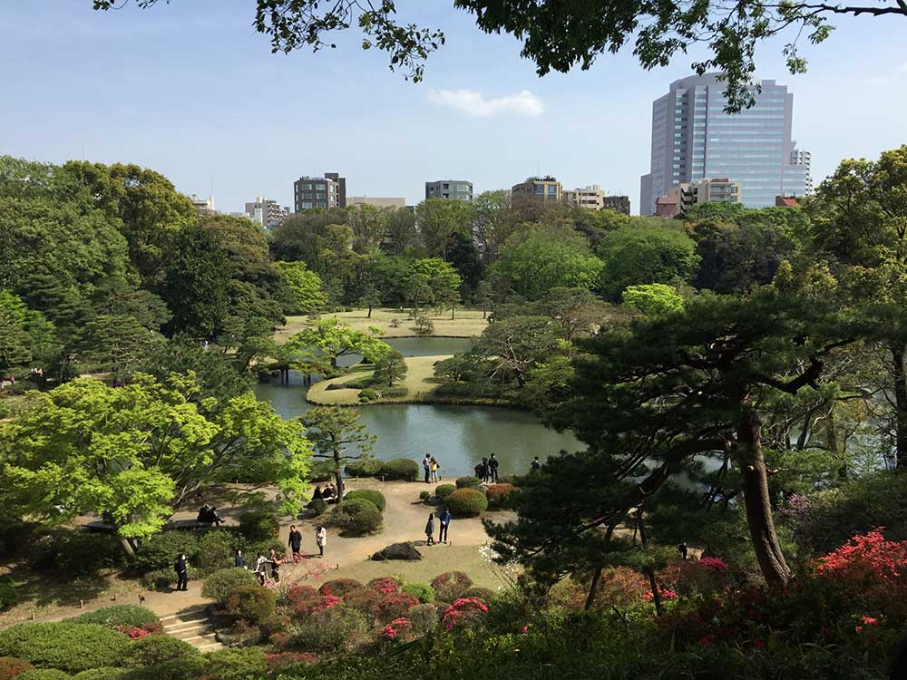 One of Tokyo's many beautiful parks.