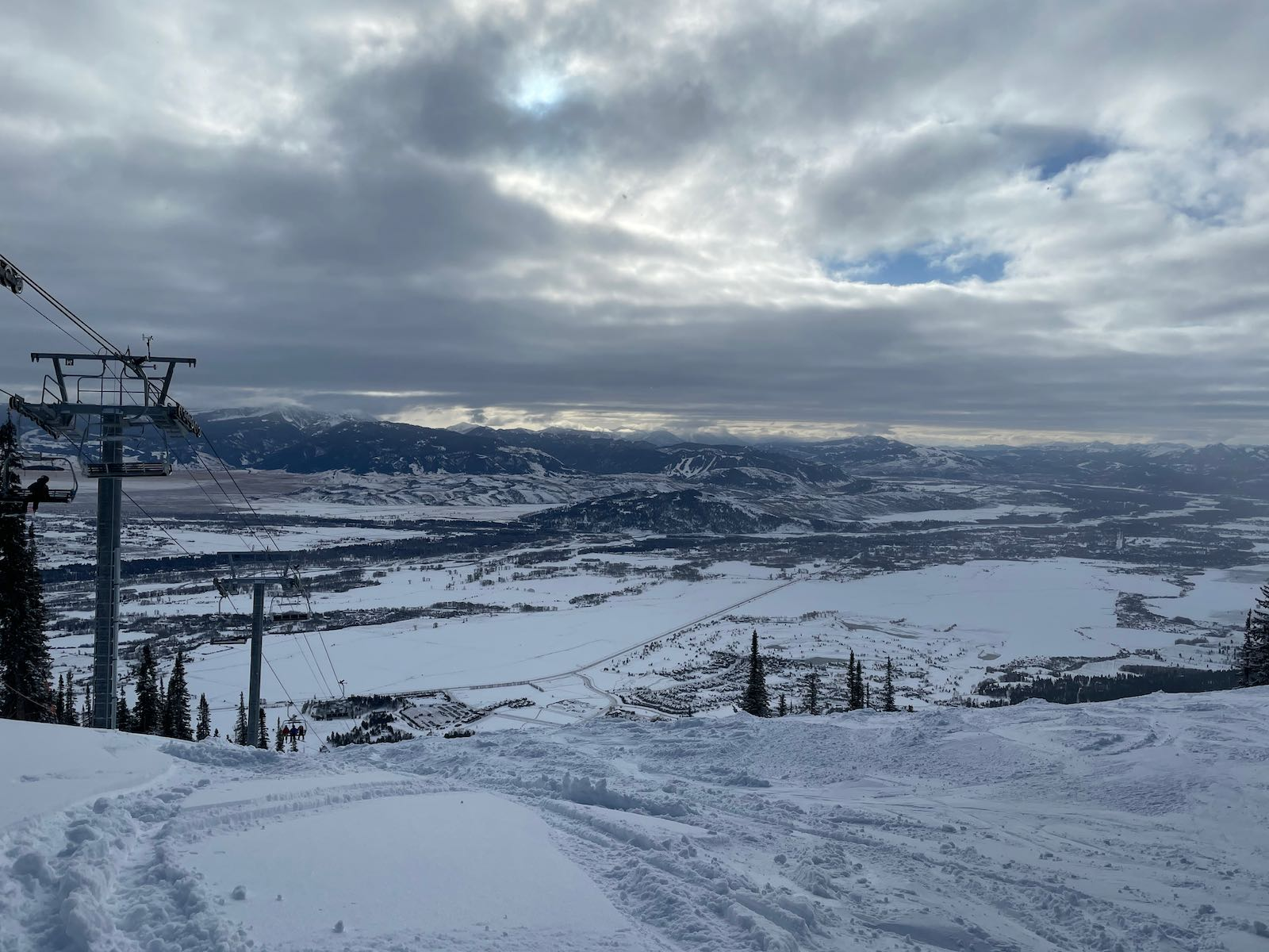 A view from Jackson Hole Mountain Resort.