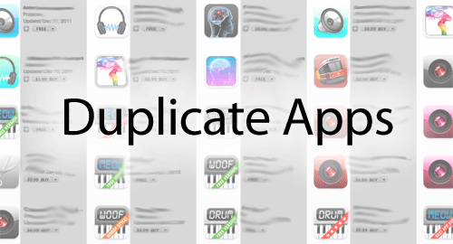 Duplicate apps on the App Store, visualized.