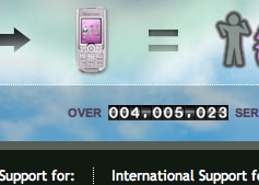 Screenshot of the Mobile17 odometer crossing 4-million.