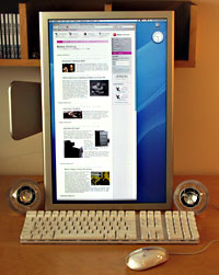 Apple Cinema Display mounted vertically. (1)