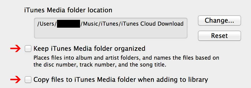 Pre-configure iTunes to hopefully not mess up your local library in the process