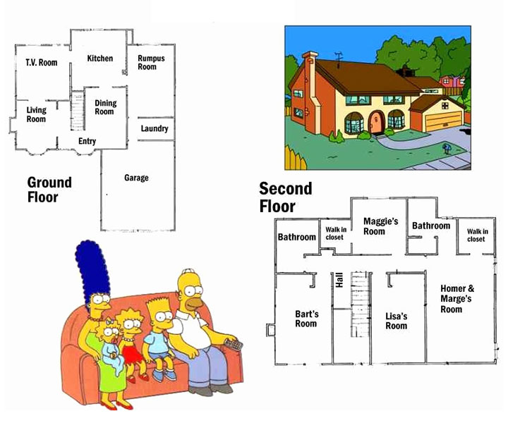 Simpson's house floorplan